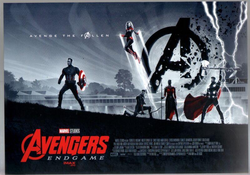 Avengers End Game Lobby Card 2019-AMC-Capt America-Thor-Hawkeye-VF