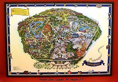 VINTAGE 2005 WALT DISNEY'S  GUIDE TO DISNEYLAND  THE MAGIC KINGDOM MAP Very Rare