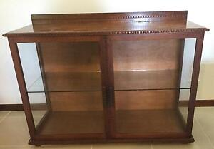 Timber & Glass Display Cabinet Cairns Cairns City Preview