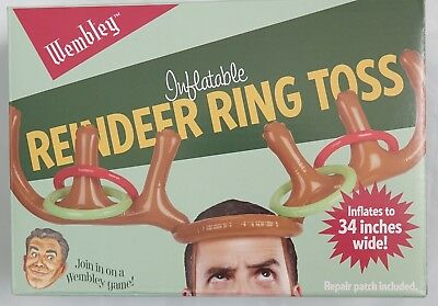 Wembley Men's Inflatable Reindeer Hoops Party Game ()