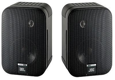2 JBL Control One Robuste Regallautsprecher Lautsprecher BLACK Schwarz NEU