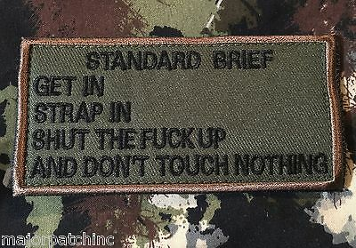 STANDARD BRIEF USA ARMY MORALE USAF ISAF FOREST VELCRO® BRAND BADGE PATCH