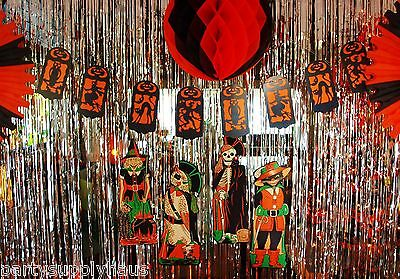 Retro HALLOWEEN Vintage Beistle 1928  SILHOUETTE STRING BANNER Party Decoration