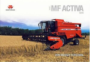 Massey Ferguson Activa 7244 10 / 2013 catalogue brochure moissonneuse combine - <span itemprop='availableAtOrFrom'> Varsovie, Polska</span> - Massey Ferguson Activa 7244 10 / 2013 catalogue brochure moissonneuse combine -  Varsovie, Polska