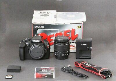 Canon EOS Rebel T3 12.2MP DSLR Camera, Black. EF-S 18-55 IS II, Clean, Free Ship