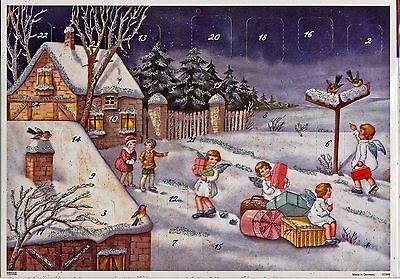 Engel auf Reisen. Glitzernder nostalgischer Adventskalender 10398