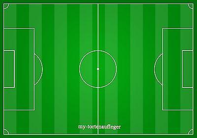 allfeld Fußball  Oblaten oder Zuckerpapier  Din A4 (Fußball-feld Papier)