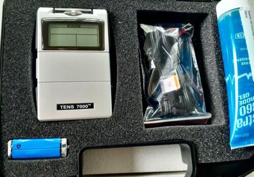 TENS 7000 Digital Pain Management Unit And 44 Pads + Gel