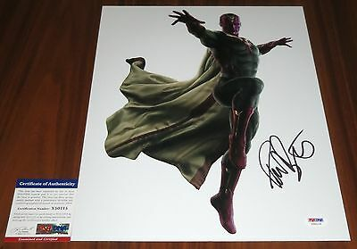 Age Of Ultron Jarvis (Paul Bettany Signed 11x14 Avengers Age of Ultron Vision Jarvis)