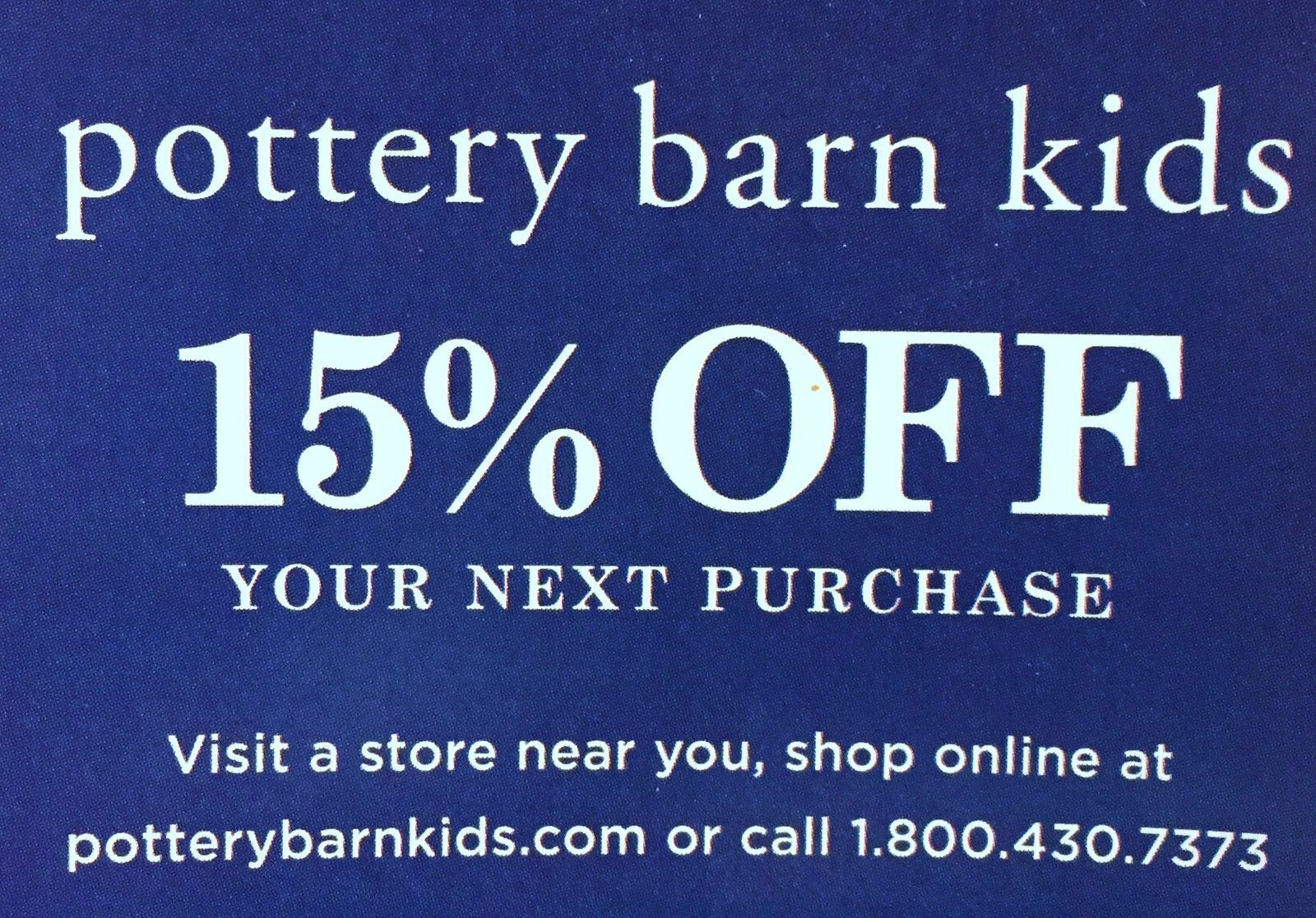 Pottery Barn Kids Coupons For Sale Ebay