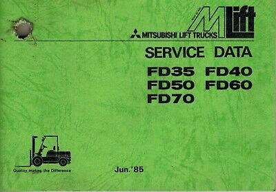 Mitsubishi Fd35 To Fd70 Forklifts Service Data Manual