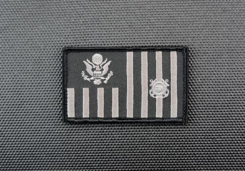 US Coast Guard Ensign Law enforcement Flag Embroider Patch USCG LE Police Hook