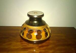 Vintage Brown and Yellow Glazed Pottery Light Shade Golden Grove Tea Tree Gully Area Preview