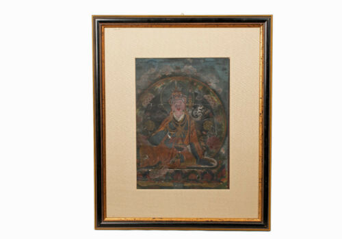 Tibet 19 20. Jh Ein Small Antique Tibetan Padmasambha Thangka/Thang-Ka