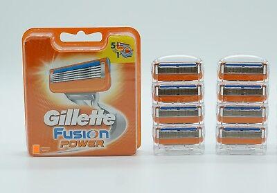 8 x Gillette FUSION Power Rasierklingen - NEU - für Männer - Mann