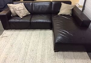 Comfy leather sectional