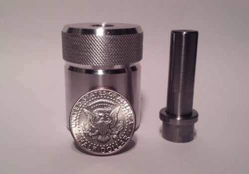 Sale! Coin Ring Center Punch for 50 Cent Piece. Choose your punch size!!!