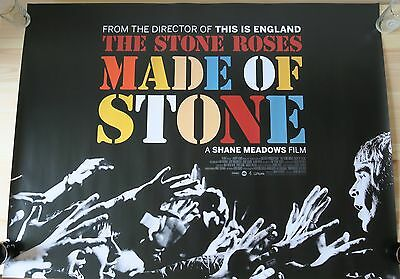 THE STONE ROSES: MADE OF STONE – RARE UK Cinema Quad Movie Poster, Shane Meadows