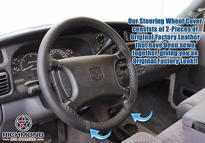 For 98-02 Dodge Ram 5.9L Cummins Turbo Diesel 6-Speed 4x4-Leather Steering Wrap
