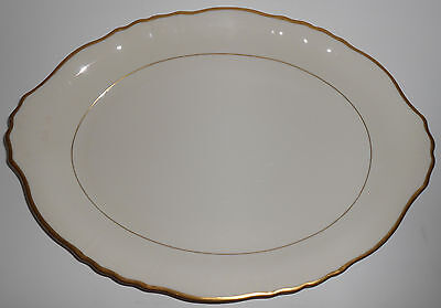 Syracuse China Old Ivory Gold Fluted Large Platter China Fluted Platter