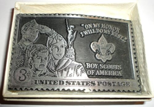 Boy Scouts of America 3-Cent Stamp Belt Buckle