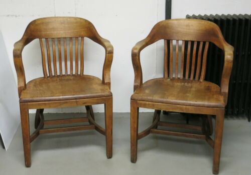 B. L. Marble Bankers Chairs a Pair