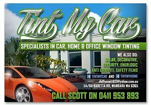 WINDOW TINTING CAR/HOME/COMMERCIAL Wanneroo Wanneroo Area Preview