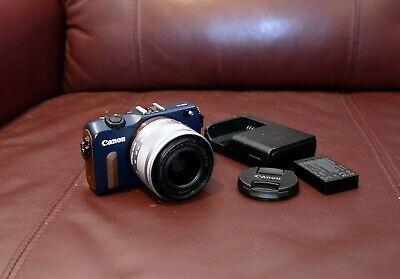 Canon EOS M2 18.0MP Digital Camera - Blue - w- 15-45mm Lens