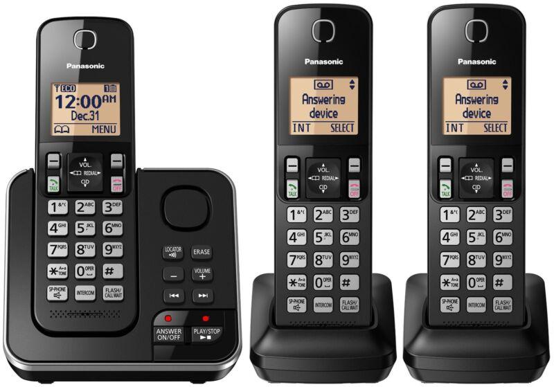 Panasonic KX-TGC363B / KX-TG633SK Dect 6.0 3 Handset