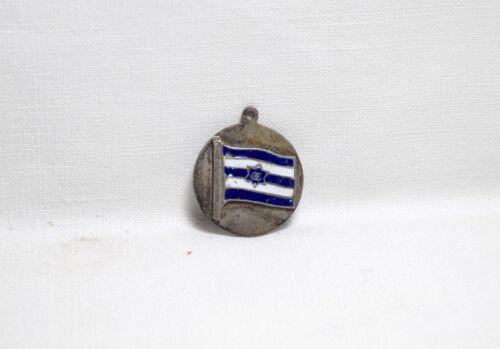 Vintage Rare GREECE Flag Greek Pendant Silver Tone with Enamel OE Olympic?