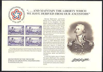 SC44/B33 Souvenir Card - ASDA 1975 -Washington - No Cancel