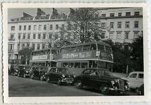 photo ancienne voiture traction bus imp rial londres car london vintage snapshot ebay. Black Bedroom Furniture Sets. Home Design Ideas