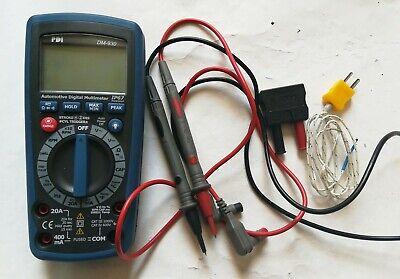 Pdi Dm-930 Automotive Digital Multimeter Autorange Thermometer Voltmeter Ammeter