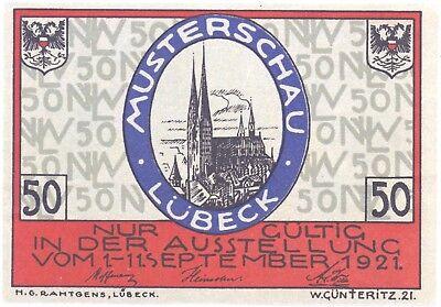 Notgeld Lübeck Musterschau Nordische Woche 50 Pfennig C, Wappen