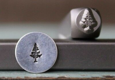 Punch Pine Tree (SUPPLY GUY 6mm Pine Tree Metal Punch Design Stamp)