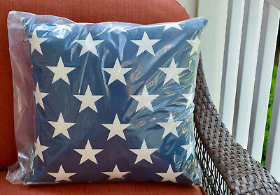 Pottery Barn PRINTED STAR Indoor Outdoor Pillow ~ 18