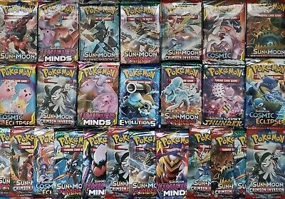 Pokemon TCG 3 Booster Packs Lot - 10 Cards in Each (from different sets) -