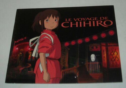 LE VOYAGE DE CHIHIRO FRENCH PROMO MOVIE PRESSBOOK ANIMATED HAYAO MIYAZAKI JAPAN