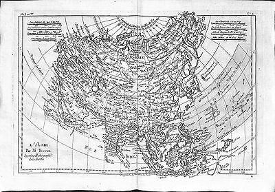 Antique maps, L'Asie par M Bonne