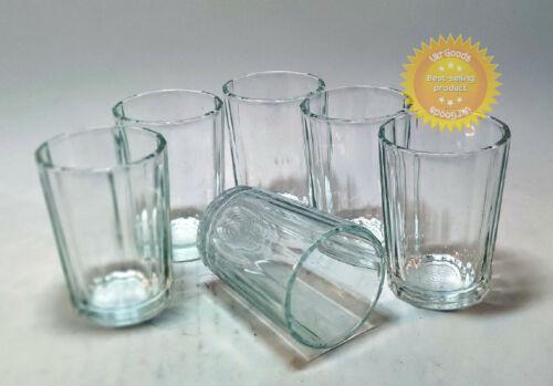 6 pcs Faceted Stopka Stakan Glass Granenny Granchak Soviet USSR Vodka 100 ml