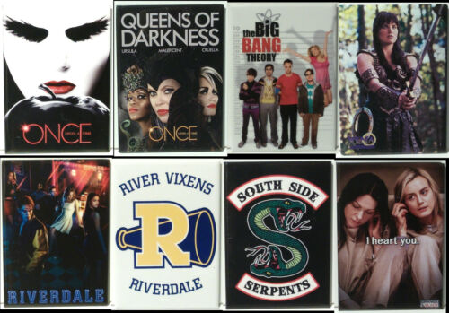 """TV Riverdale/Xena/Once Upon Fridge Magnet Collection- 3.5""""x2.5""""->Choice of 15+"""