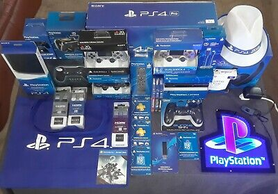 NEW  PlayStation 4 Pro Bundle  (CONTROLLERS, CAMERA, HEADSET, HARD DRIVE & MORE)