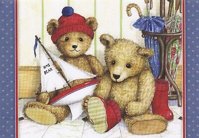 12 sample sheets from Hunkydory's Little Book of Teddy Bear's Picnic - Set 7