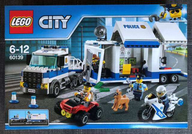 LEGO 60139 City Police Mobile Command Center Building Set Toy Truck and Moto...