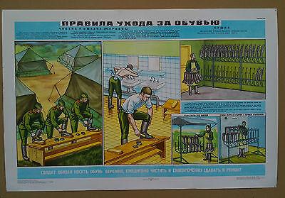 Plakat Feldlager Zelt Felddienst Stiefel Soldat UDSSR  Sowjet Armee