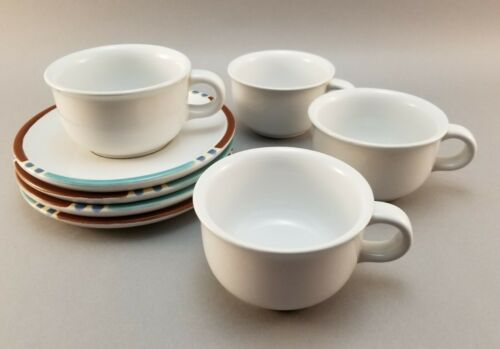 Dansk White Mesa Cup and Saucer Set of 4