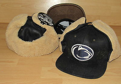 new arrivals da114 a8ba8 PENN STATE NITTANY LIONS WOODSMAN DOG EARED SHERPA FITTED HAT CAP SIZE 7 1 4