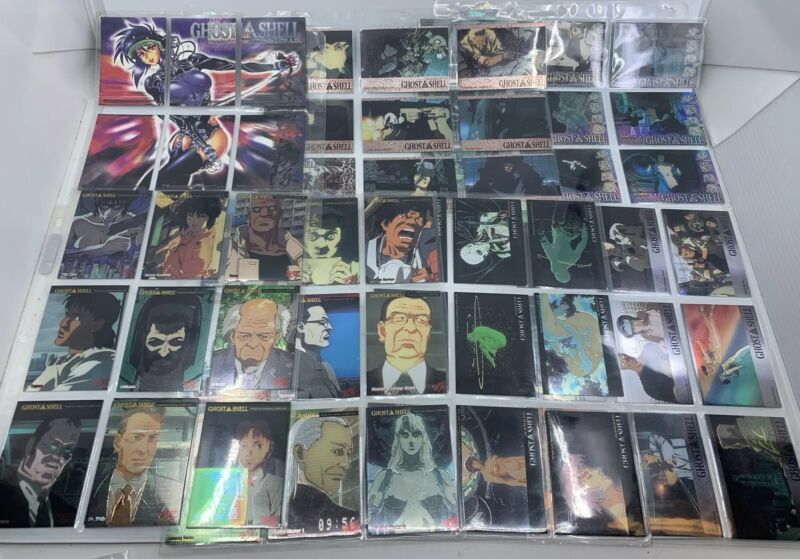 Ghost in the Shell Complete Chromium 60 Card Set w/ All Chase Holofoil JPP/AMADA