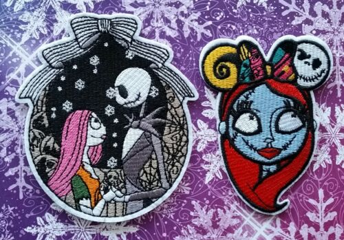 Nightmare Before Christmas SALLY And Jack & Sally Nightime embroidered PATCHES