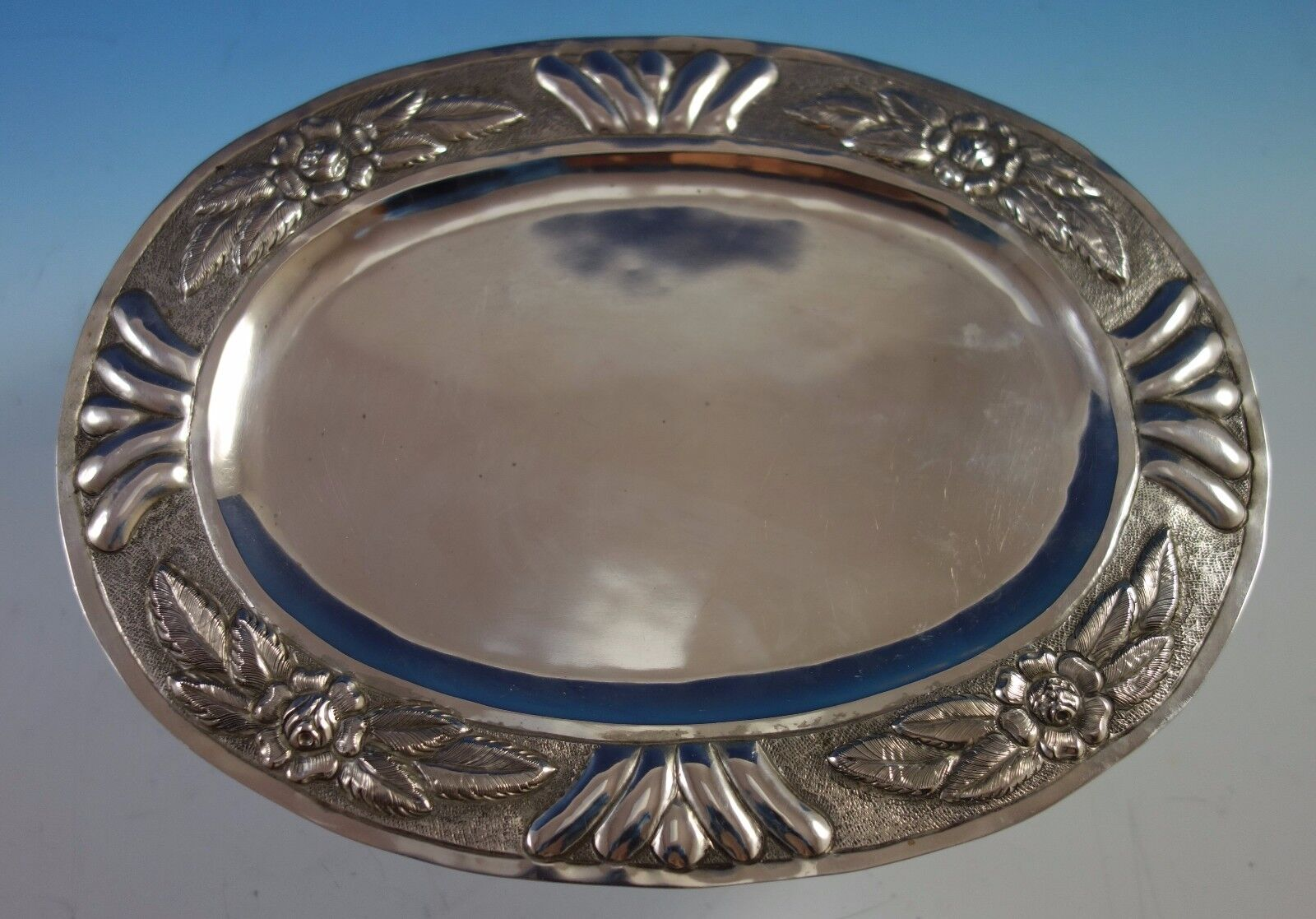#1775 Aztec Rose by Sanborns Mexican Mexico Sterling Silver Soup Bowl